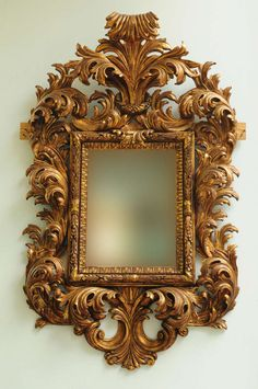 Very Fine Late 19th Century Italian Rococo Style Carved Wood Mirror 2