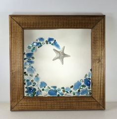 Excited to share the latest addition to my shop: Seashell and Glass Mosaic Wave. Framed Beach Glass Decor, Seashell art, Coastal Beach Decor Source by michelleswansey Sea Glass Crafts, Sea Glass Art, Stained Glass Art, Mosaic Glass, Mosaic Art, Seashell Art, Seashell Crafts, Beach Crafts, L'art Du Vitrail