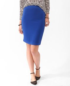 #Forever21                #Skirt                    #Solid #Knee #Length #Skirt                         Solid Knee Length Skirt                             http://www.seapai.com/product.aspx?PID=53927
