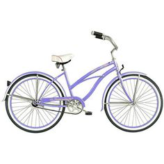 "26"" Micargi Tahiti Women's Beach Cruiser Bike, Baby Blue"