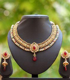 Royal Kundan & Polki Necklace Set – India1001.com