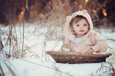 snow baby photography rustic winter