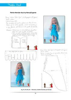 Revista de Información variada sobre temas Muñequiles Barbie Clothes Patterns, Sewing Doll Clothes, Sewing Dolls, Doll Patterns, Clothing Patterns, Vestidos Nancy, Club Magazine, Nancy Doll, Disney Animator Doll