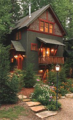 Below are the Cottage House Exterior Design Ideas. This article about Cottage House Exterior Design Ideas was posted under the … Cabin Exterior Colors, Log Cabin Exterior, Exterior Paint Colors For House, Paint Colors For Home, Exterior Design, Paint Colours, Mountain Home Exterior, Stucco Colors, Rustic Exterior