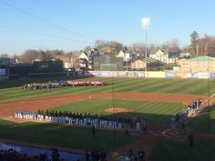 April 14, 2016 - Opening Day for the Erie SeaWolves of the AA Eastern League at Jerry Uht Park.