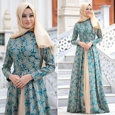 Puane - Green Evening Dress it is to I to to # I kapalıgiy # Kapalıabiyemodel of # Hijab Evening Dress, Green Evening Dress, Evening Dresses, Abaya Fashion, Modest Fashion, Fashion Dresses, Muslim Women Fashion, Islamic Fashion, Moslem Fashion