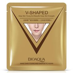 [Visit to Buy] BIOAQUA V-Shaped Ear Loop Style Facial Mask 3D V-Line Slimming Lifting Firming Face Mask Tighten Chin Cheek Reduce Puffiness #Advertisement