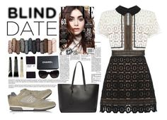 """""""Blind date"""" by sombre-lune ❤ liked on Polyvore featuring Hogan, self-portrait, Grown Alchemist, Urban Decay, Yves Saint Laurent, Chanel, women's clothing, women, female and woman"""
