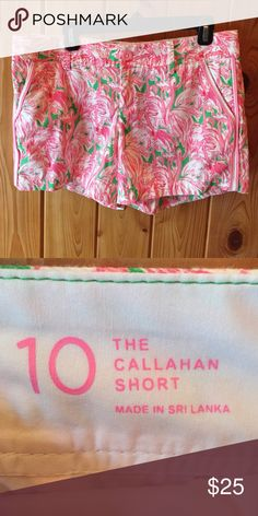Lilly Pulitzer Callahan short Cute flamingo print Lilly short Lilly Pulitzer Shorts