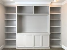 Built In Tv Wall Unit, Built In Tv Cabinet, Built In Shelves Living Room, Tv Built In, Tv Cabinet Design, Shelves In Bedroom, Built In Cabinets, Custom Cabinets, Tv Cabinets
