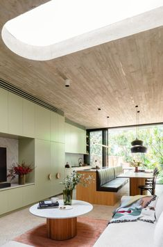 Australian Architecture, Interior Architecture, Residential Interior Design, Living Area, Living Spaces, Living Room, Dyi, Light Brick, Floor Slab