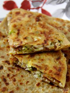 Cheese paratha is a quick & easy kids snacks recipes. I often make cheese paratha for the after school snack.For cheese paratha make stuffing and dough one day before. Easy Healthy Recipes, Vegetarian Recipes, Cooking Recipes, Curry Recipes, Cheese Recipes, Diet Recipes, Veg Recipes Of India, Indian Food Recipes, Crepes