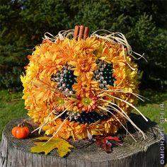 Floral Jack-O-Lantern by Michael Speir.  Gorgeous!