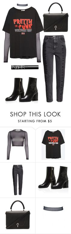 """""""Untitled #5461"""" by lilaclynn ❤ liked on Polyvore featuring Oh My Love, H&M, Carven, NARS Cosmetics, HM and NARS"""