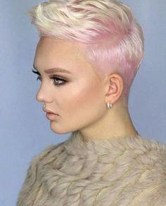 Esta es la sorprendente magia del pelo corto ,sobresalen detalles extremos,femeninos,audaces y 100% beneficiosos.  Los puedes llevar como qu...