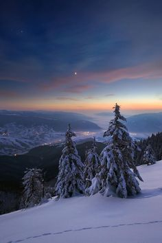 Landscape & Nature - ponderation: Winter Mood by Sergey Ryzhkov Winter Photography, Landscape Photography, Nature Photography, Winter Mountain, Winter Magic, Winter Snow, Winter White, Winter Scenery, Winter Sunset