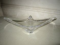 Daum France Crystal Art Glass Bowl Dish  by JewelsOfHighElegance, $75.00