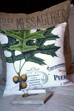 Throw Pillow Cover Cotton and Burlap Pillows