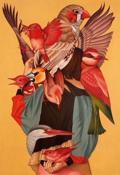 Egene Koo, Narcissist1, Oil on canvas