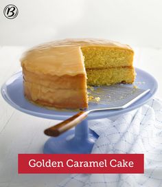 Want a recipe that's got homemade taste and can be made with a beginner's skill? Then try this easy, moist yellow cake that's covered with a rich, satin caramel frosting. The flavor goes for miles!