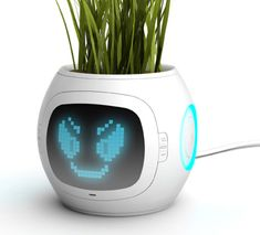 Digital pot - tells you what the plant needs- I need this! I don't exactly have a green thumb