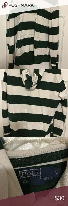 Polo Sweatshirt It is in good condition. It does have some stains on the back and shoulder as shown in the pictures. I believe they are detergent stains. Polo by Ralph Lauren Shirts Sweatshirts & Hoodies