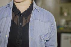 #denim #shirt #sheer