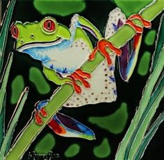 This is tile art. Check out this Red Eyed Tree Frog out. Now only $22.95.