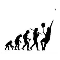 Tennis Evolution - Large Tennis Poster