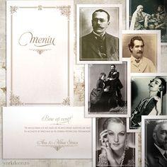 Accesorii Nuntă Tradițională Regală – Meniu • Placecarduri personalizate • Numere de masă cu personalități românești Polaroid Film, Frame, Artist, Vintage, Shelf, Picture Frame, Artists, Vintage Comics, Frames
