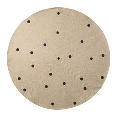 Beautiful round carpet with black dots in jute. Item no: 8164 Colour: Black dots Size: Ø: Material: Jute Care: Foam wash only *This item is excluded from sale events and not available for additional discounting or promotional offers. Jute Carpet, Beige Carpet, Wall Carpet, Black Carpet, Polka Dot Rug, Circular Rugs, Tapis Design, Jute Rug, Child Room