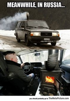 Russians Dealing With Winter