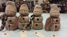 Rice Bag Primitive Snowman  Winter/Christmas by SpareThymeSisters