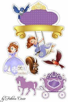 Princesa Sofía Primera: Toppers para Tartas, Tortas, Pasteles, Bizcochos o Cakes para Imprimir Gratis.