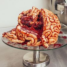 Scare the pants off your Halloween party guests with a gory brain cake.