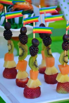 St. Patrick's Day Party - Rainbow Fruit Sticks