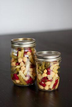 Kitchen Corners: Four Bean Salad Healthy Salads, Healthy Eating, Healthy Food, Four Bean Salad, Healthy Living Recipes, Bean Salad Recipes, Side Dish Recipes, Side Dishes, Jar Recipes