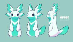 Cute Fantasy Creatures, Mythical Creatures Art, Cute Creatures, Fantasy Character Design, Character Design Inspiration, Character Art, Creature Concept Art, Creature Design, Cute Animal Drawings