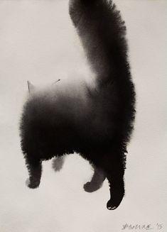 Черный кот, работа Эндре Пеновца