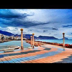 Parte del paseo marítimo de Altea, bordeando el Mediterráneo. Altea, Alicante, Wind Turbine, Spain, Pure Products, Unique, Walks, Spanish