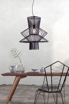 Tornado Black Ceiling Lamp