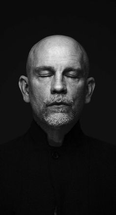 """NITCH - John Malkovich // """"People get up, they go to work, they have their lives, but you never see the headlines say, 'Six billion people got along rather well today.' You'll have the headline about the 30 people who shot each other. Famous Portraits, Celebrity Portraits, Beach Portraits, Foto Portrait, Portrait Photography, Men Portrait, Children Photography, Black And White Portraits, Black And White Photography"""