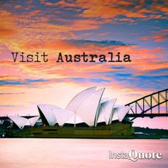 I have always wanted to go here with my mom. She has wanted to go to Australia for as long as I can remember and I would love to finally give her her dream and live it with her.