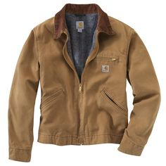 Carhartt Weathered Duck Detroit Jacket in carhartt brown has a blanket lining in body, quilted-nylon lining in sleeves and corduroy-trimmed collar with under-collar snaps for optional hood. Carhartt Weathered Duck Detroit Jacket also has a left-che Carhartt Detroit Jacket, Carhartt Jacket, Carhartt Wip, Carhartt Workwear, Carhartt Shirts, Rugged Style, Style Men, Work Jackets, Line Jackets