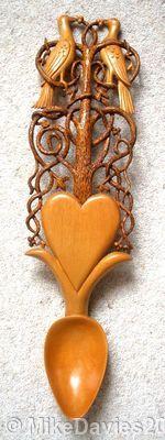 mike davies2, Artist, Sculptor,Wood carver,Love spoon carver,love spoons, Celtic art, Welsh spoons,for sale,information