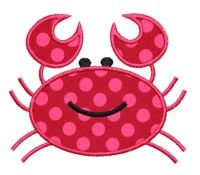 H Crab Applique Design