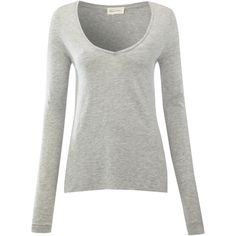 American Vintage Jacksonville Long Sleeve Tee - Heather Grey (490 VEF) ❤ liked on Polyvore featuring tops, t-shirts, shirts, long sleeves, blusas, blouses, heather grey, long sleeve tee, longsleeve shirts and long sleeve layering tee
