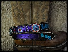 custom ordered belt  name and initials