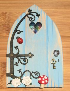 Oaktree Fairies - The Welsh Fairy Door Company. Sky Blue Fairy Door with new Fairytale hinge! Blue Fairy, Fairy Land, Fairy Tales, Diy Fairy Door, Fairy Doors, Fairy Garden Houses, Fairy Gardens, Fairy Tale Crafts, Fairy Furniture