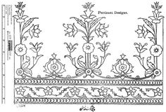 Indian commercial embroidery pattern